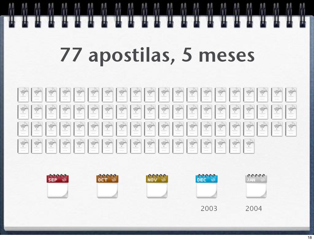 77 apostilas, 5 meses 2003 2004 18