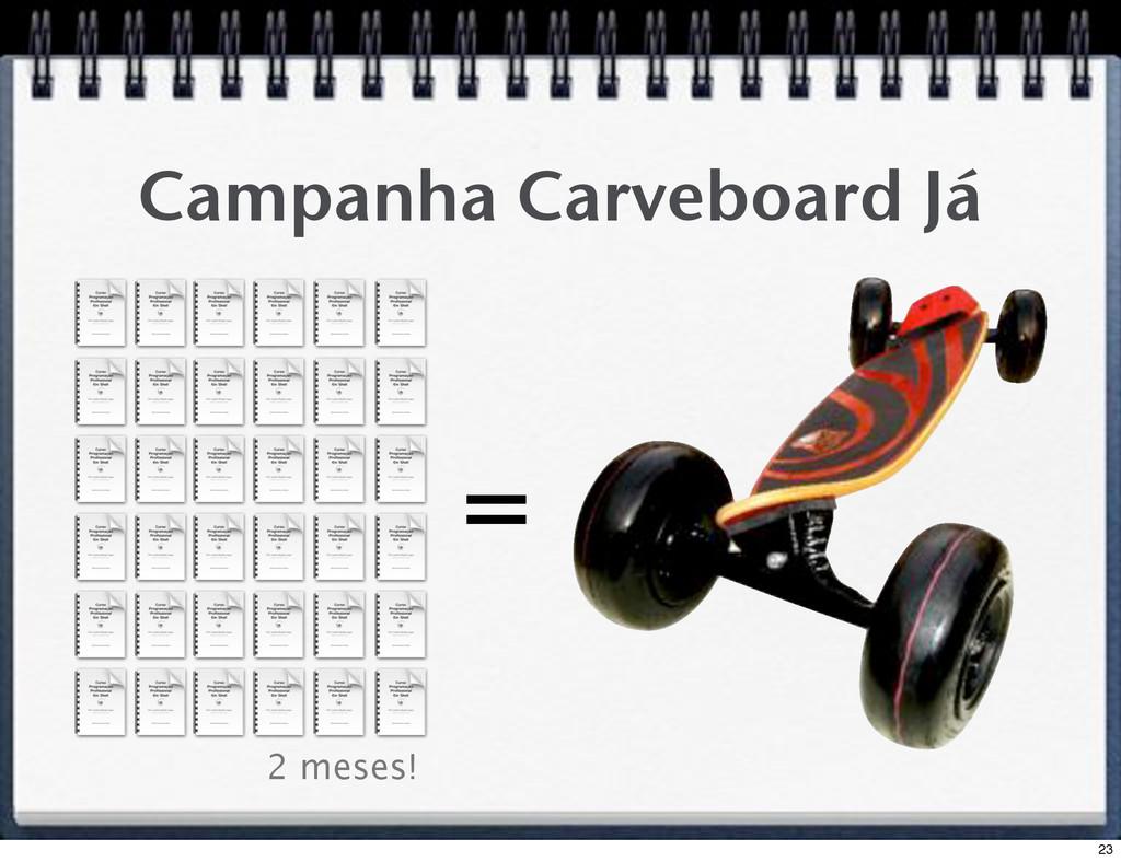 Campanha Carveboard Já = 2 meses! 23