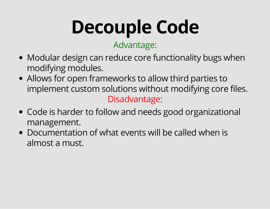 Decouple Code Advantage: Modular design can red...