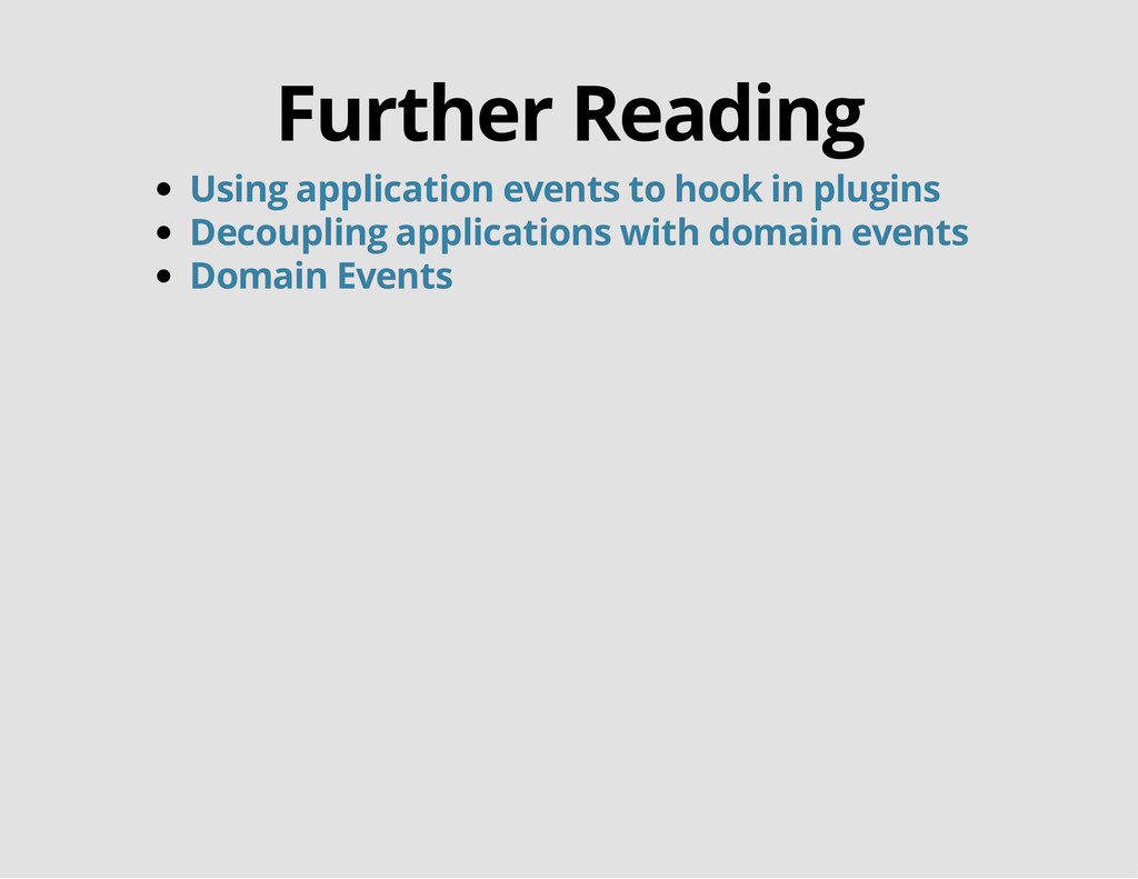 Further Reading Using application events to hoo...