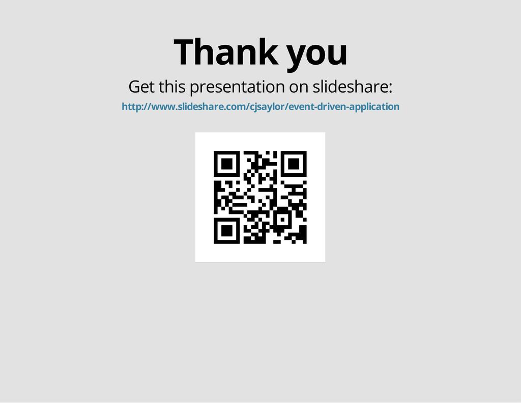 Thank you Get this presentation on slideshare: ...