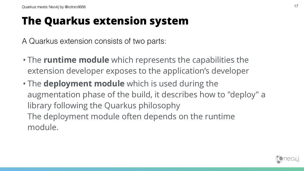 Quarkus meets Neo4j by @rotnroll666 • The runti...