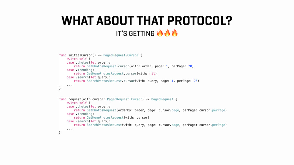 WHAT ABOUT THAT PROTOCOL? IT'S GETTING  func in...