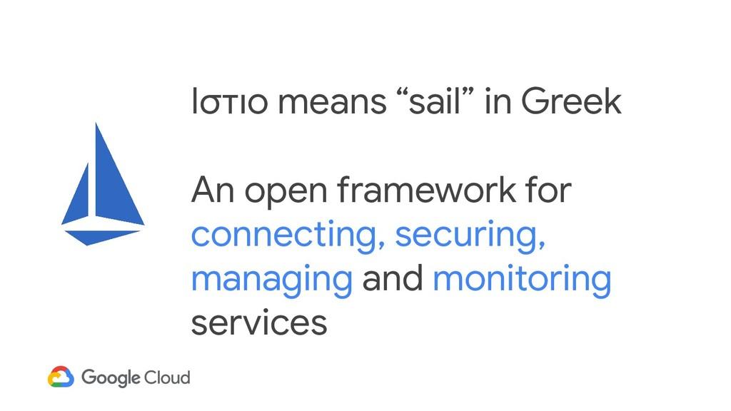 """Ιστιο means """"sail"""" in Greek An open framework f..."""