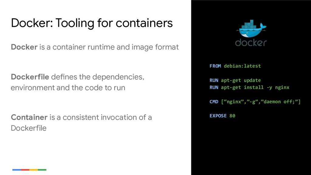 5 Docker: Tooling for containers FROM debian:la...