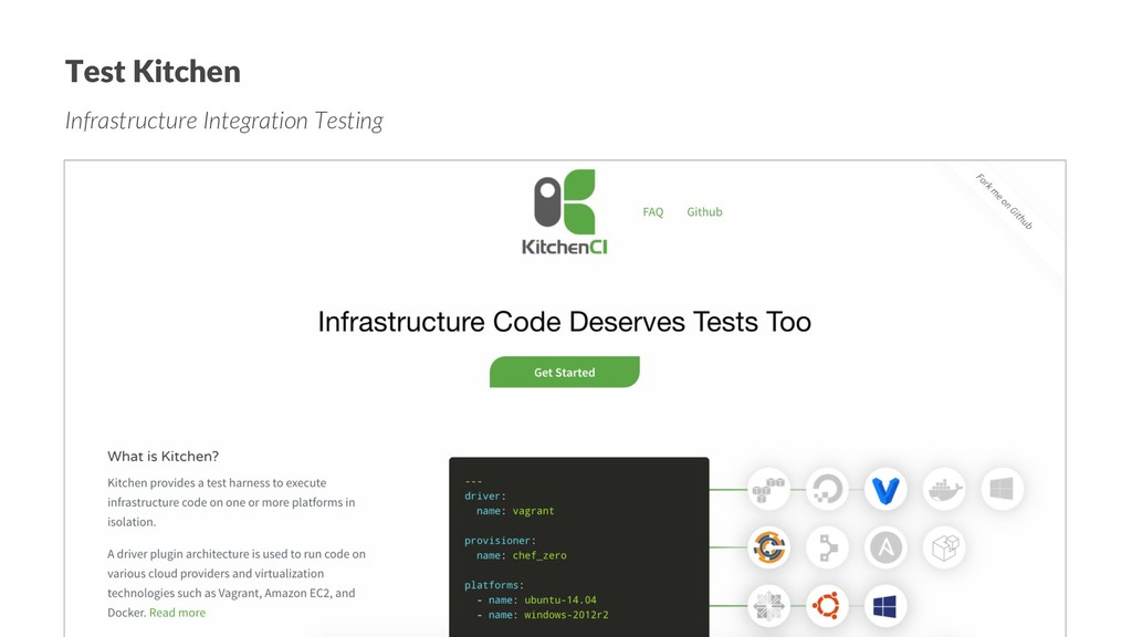 Test Kitchen Infrastructure Integration Testing