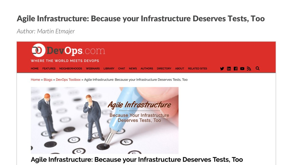 Agile Infrastructure: Because your Infrastructu...