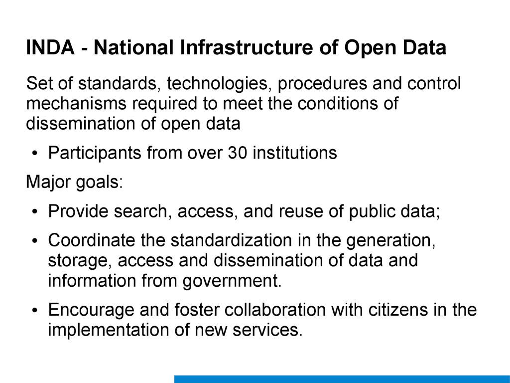 INDA - National Infrastructure of Open Data Set...