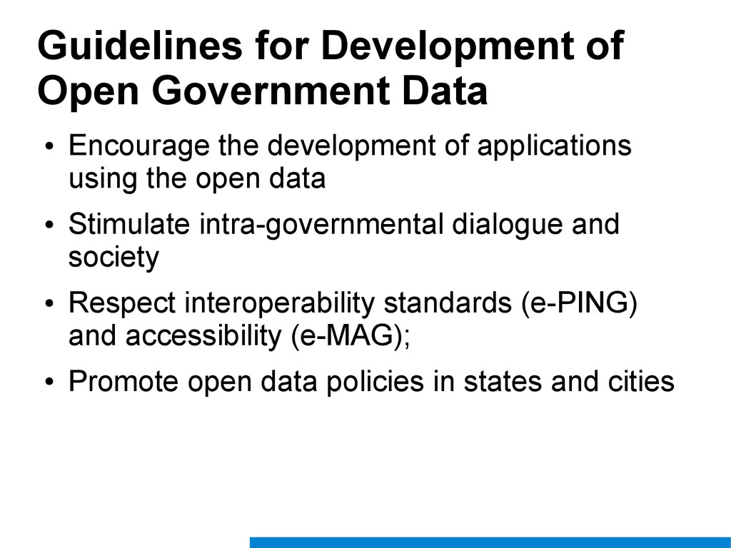Guidelines for Development of Open Government D...