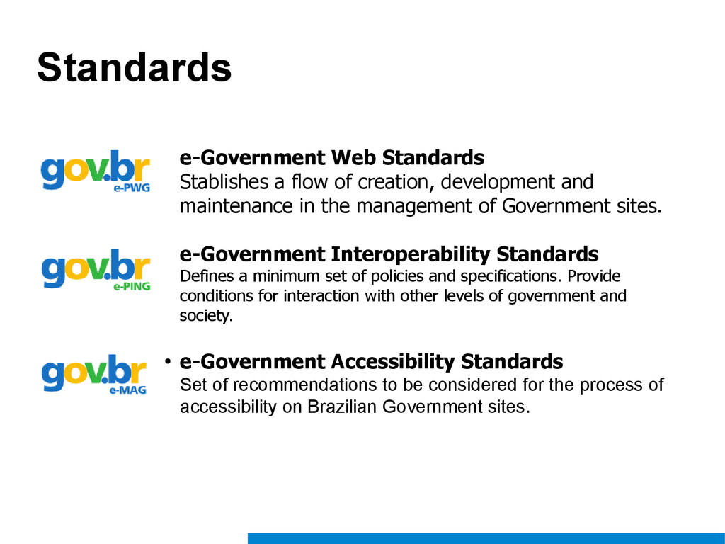 Standards e-Government Web Standards Stablishes...