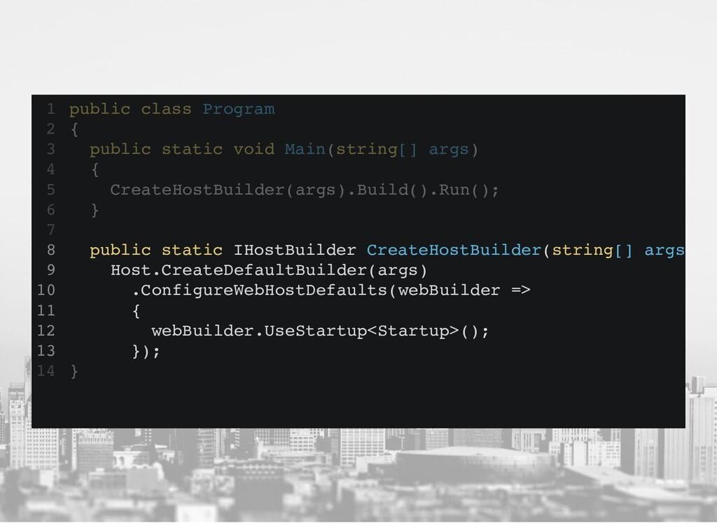 public class Program { } 1 2 public static void...