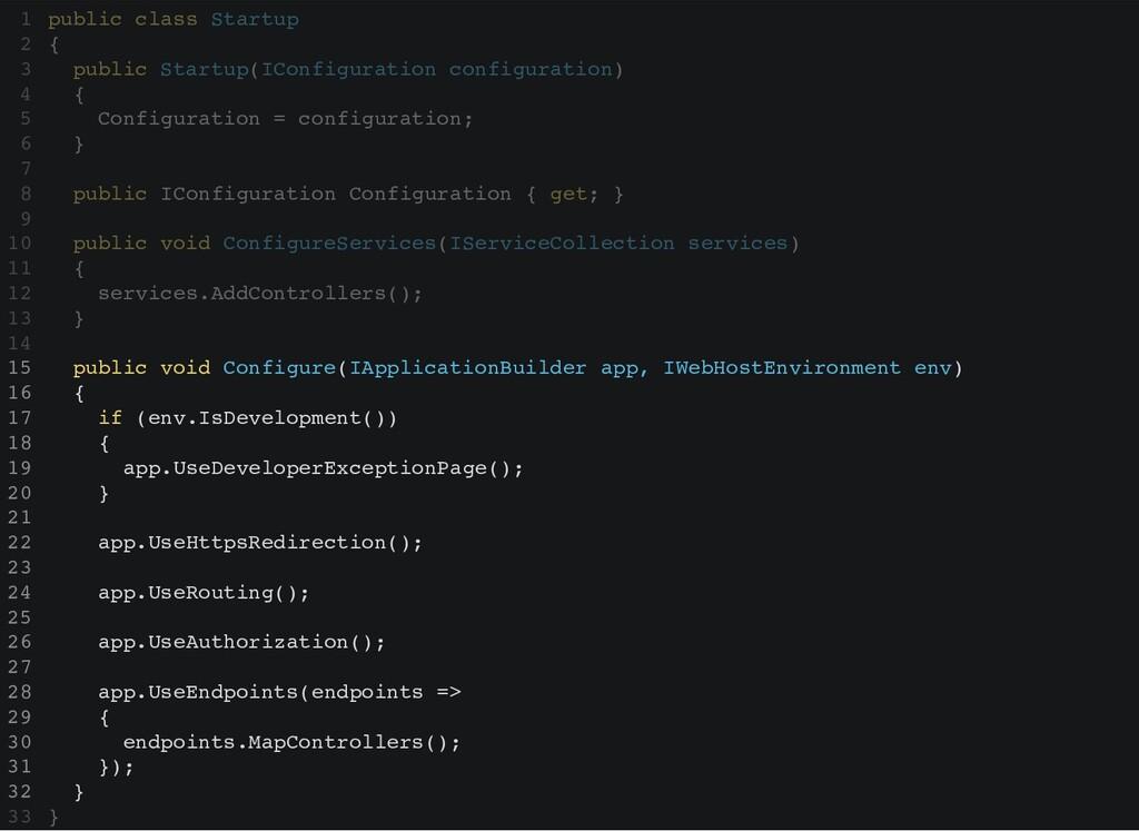public Startup(IConfiguration configuration) { ...