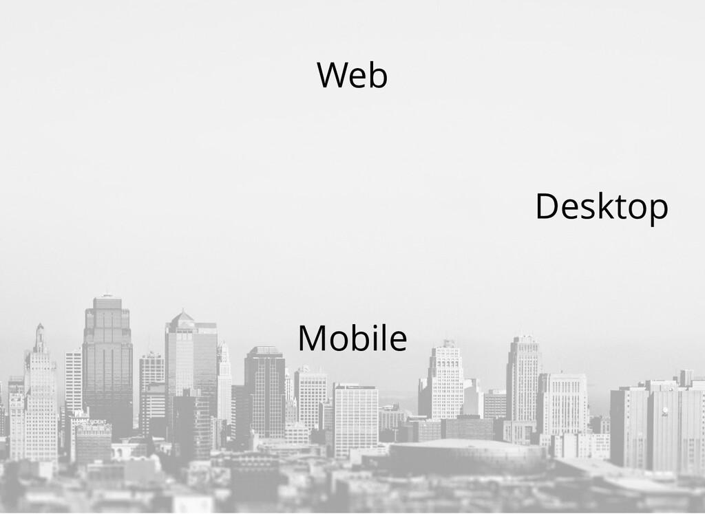 Mobile Desktop Web