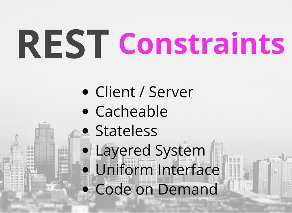 REST Constraints Client / Server Cacheable Stat...