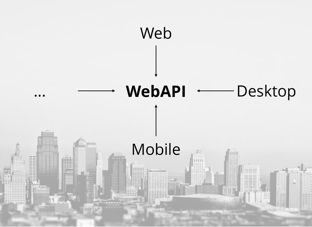 WebAPI Mobile Desktop Web ...