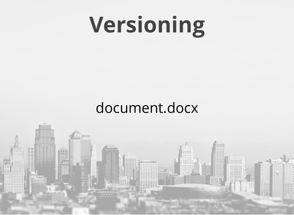 Versioning document.docx