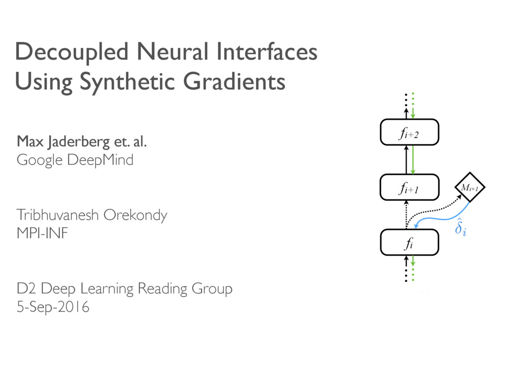 Decoupled Neural Interfaces Using Synthetic Gra...