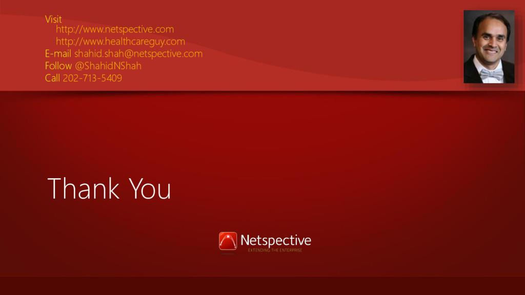 Thank You Visit http://www.netspective.com http...