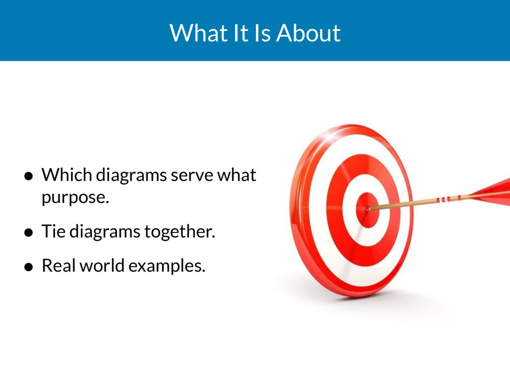 What It Is About • Which diagrams serve what pu...