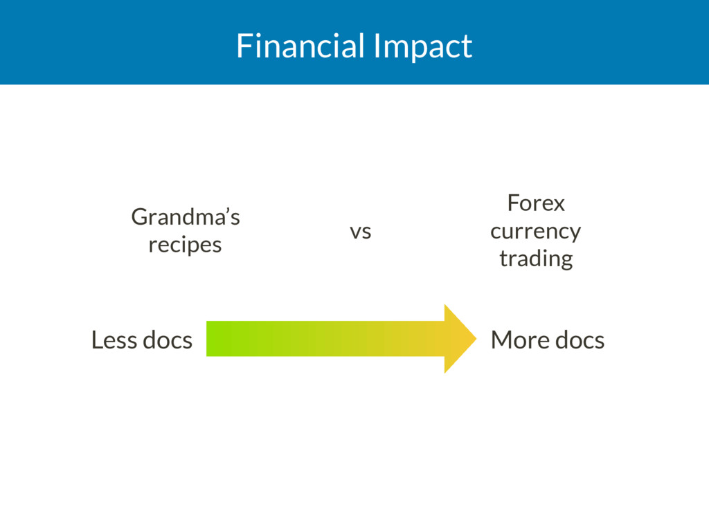 Financial Impact Grandma's recipes vs Forex c...
