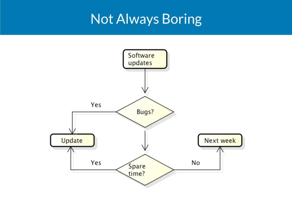 Not Always Boring