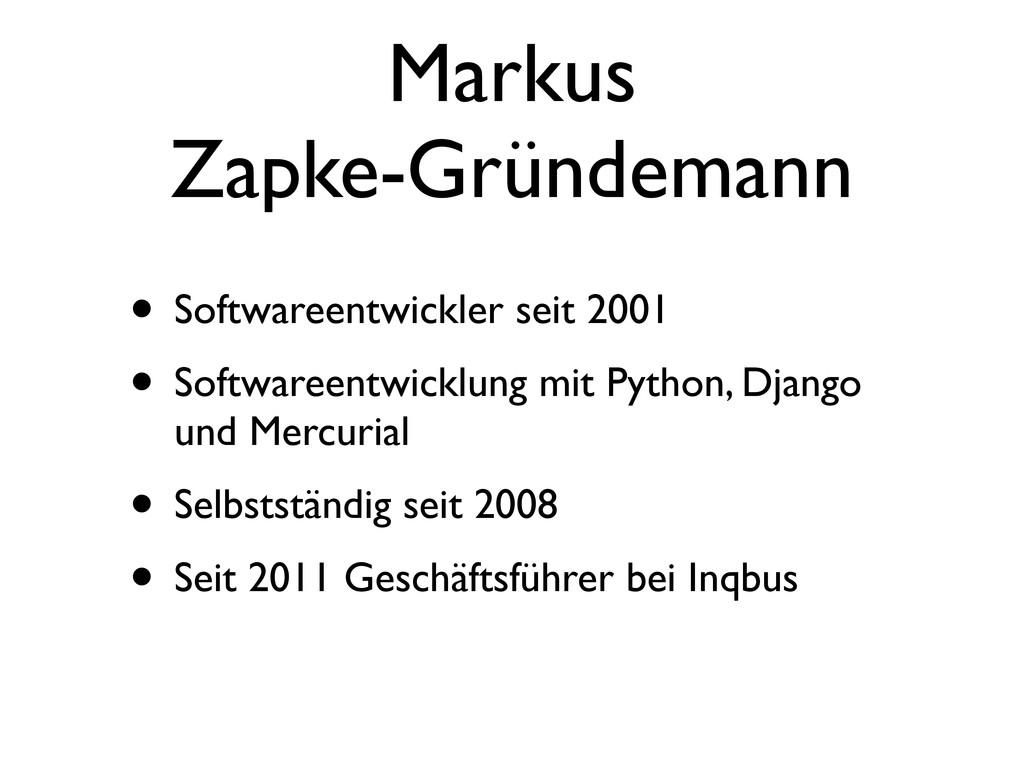 Markus Zapke-Gründemann • Softwareentwickler se...
