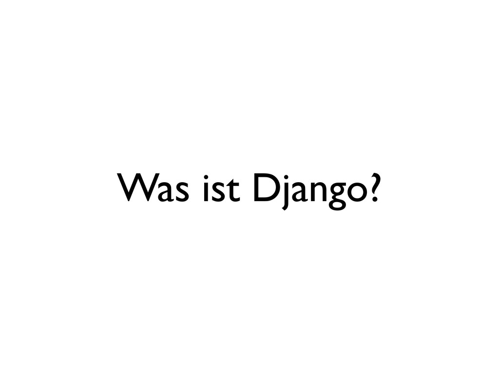 Was ist Django?