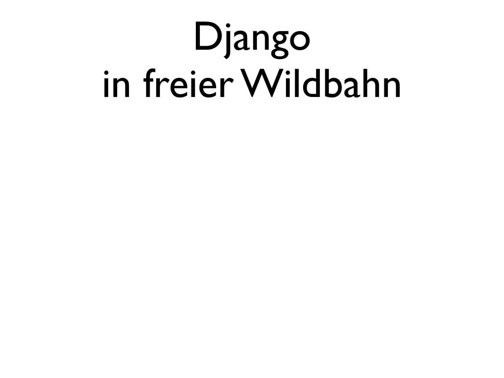 Django in freier Wildbahn