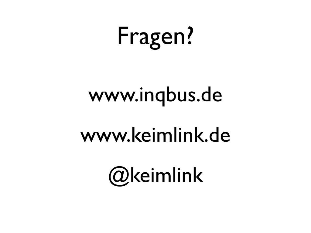 Fragen? www.inqbus.de www.keimlink.de @keimlink