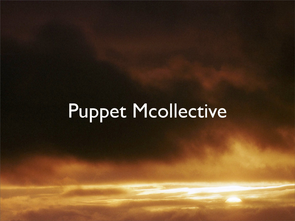 Puppet Mcollective