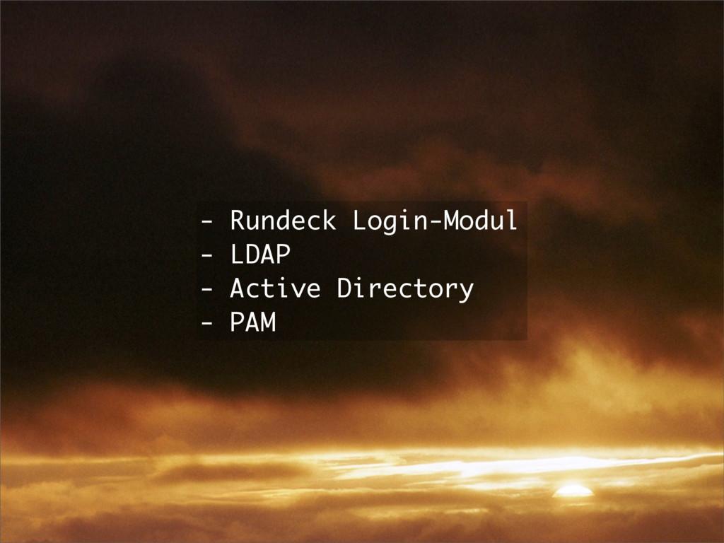 - Rundeck Login-Modul - LDAP - Active Directory...