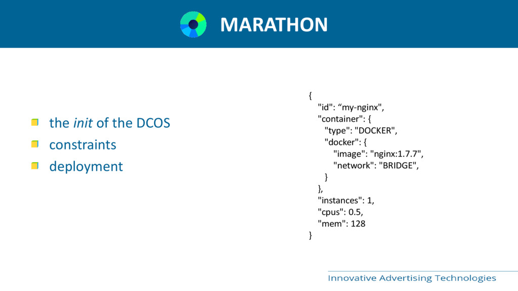 MARATHON the init of the DCOS constraints deplo...