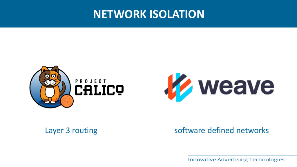 NETWORK ISOLATION Layer 3 routing software defi...