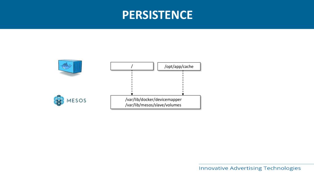 PERSISTENCE / /opt/app/cache /var/lib/docker/de...