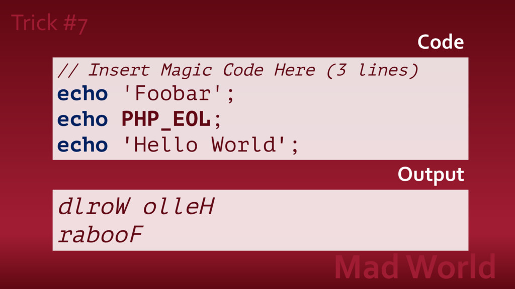 Trick #7 Mad World // Insert Magic Code Here (3...