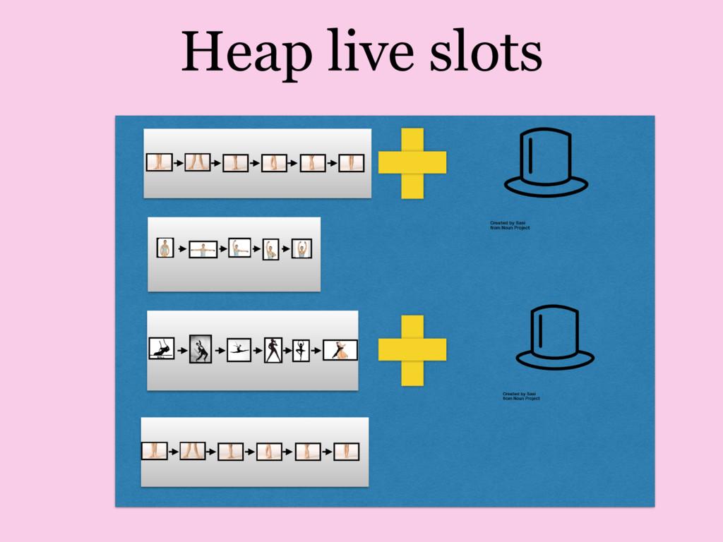 Heap live slots