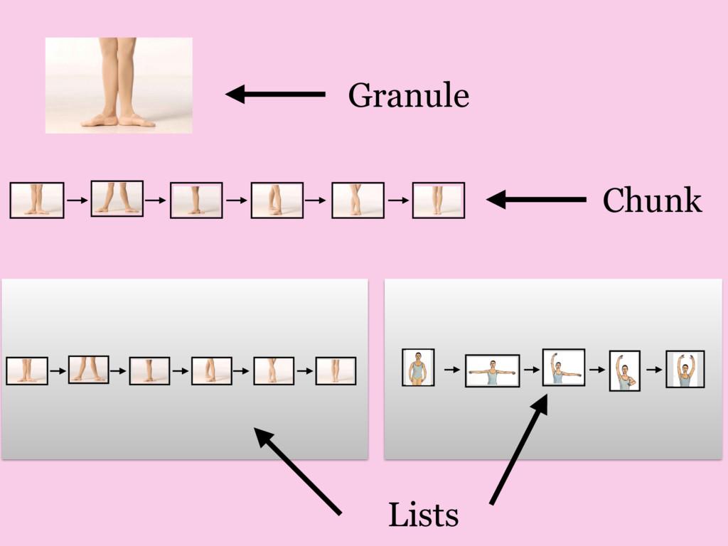 Granule Chunk Lists