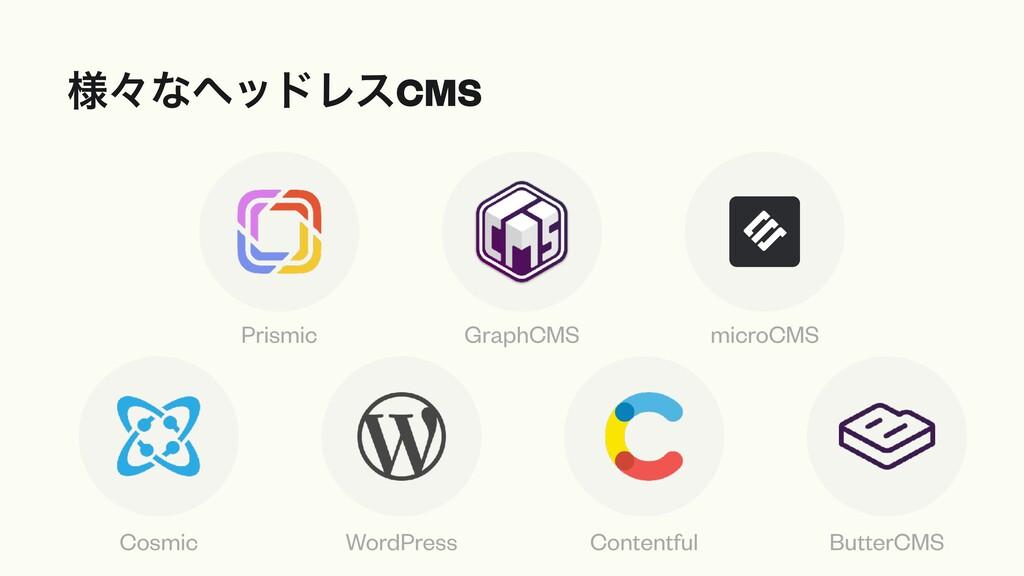 ༷ʑͳϔουϨεCMS Cosmic WordPress Contentful ButterC...