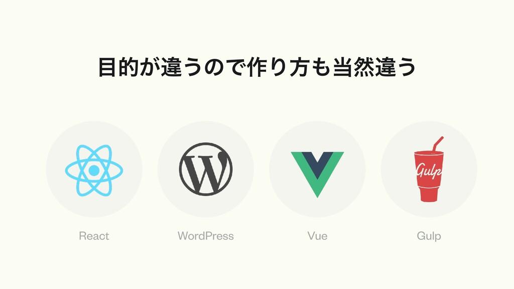 త͕ҧ͏ͷͰ࡞Γํવҧ͏ React WordPress Vue Gulp