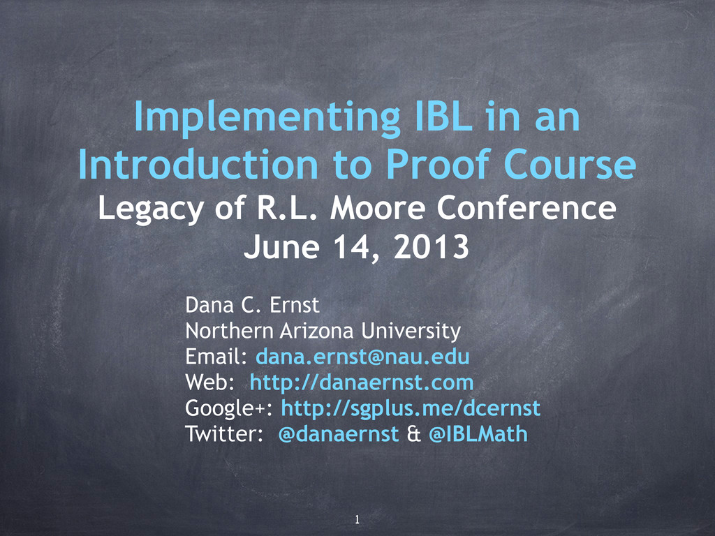 Implementing IBL in an Introduction to Proof Co...