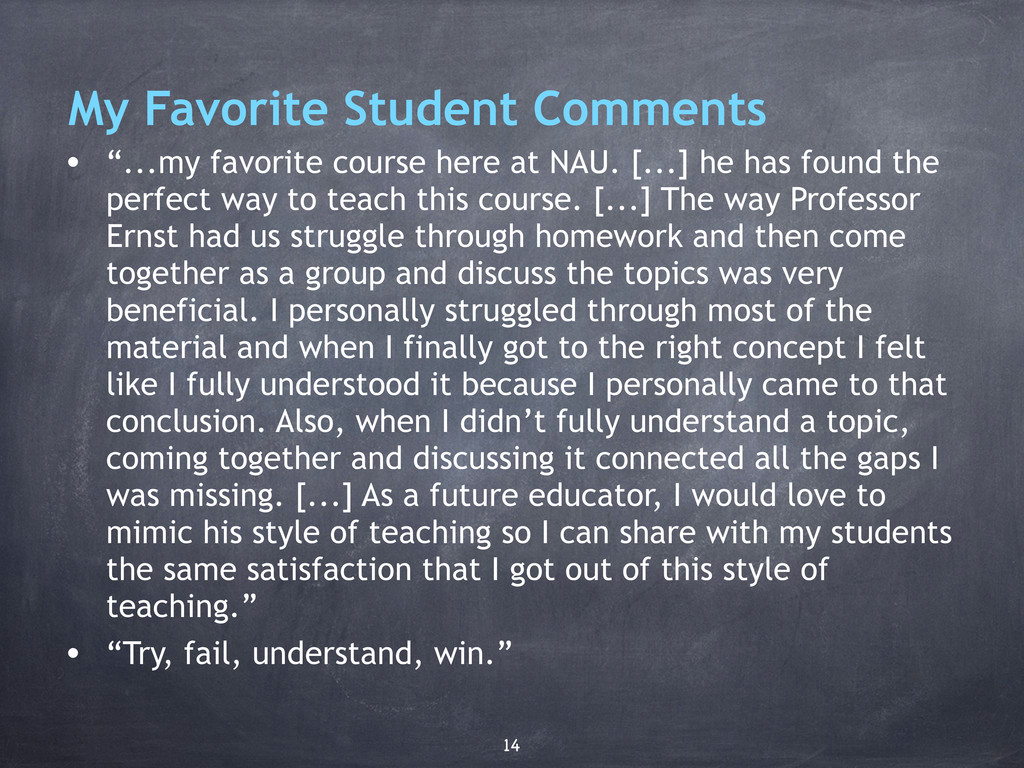 """My Favorite Student Comments • """"...my favorite ..."""