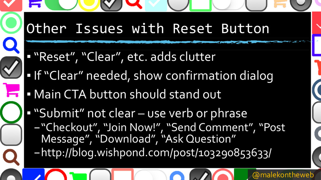 @malekontheweb Other Issues with Reset Button ▪...