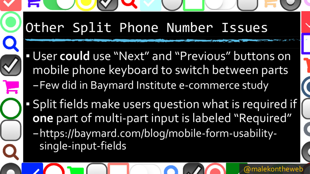 @malekontheweb Other Split Phone Number Issues ...