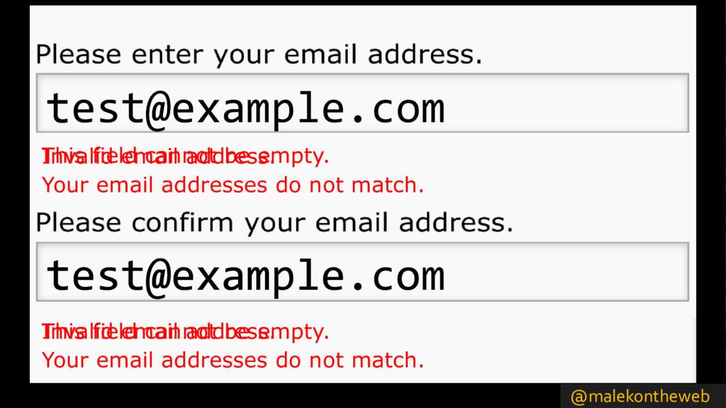 @malekontheweb Invalid email address. Invalid e...