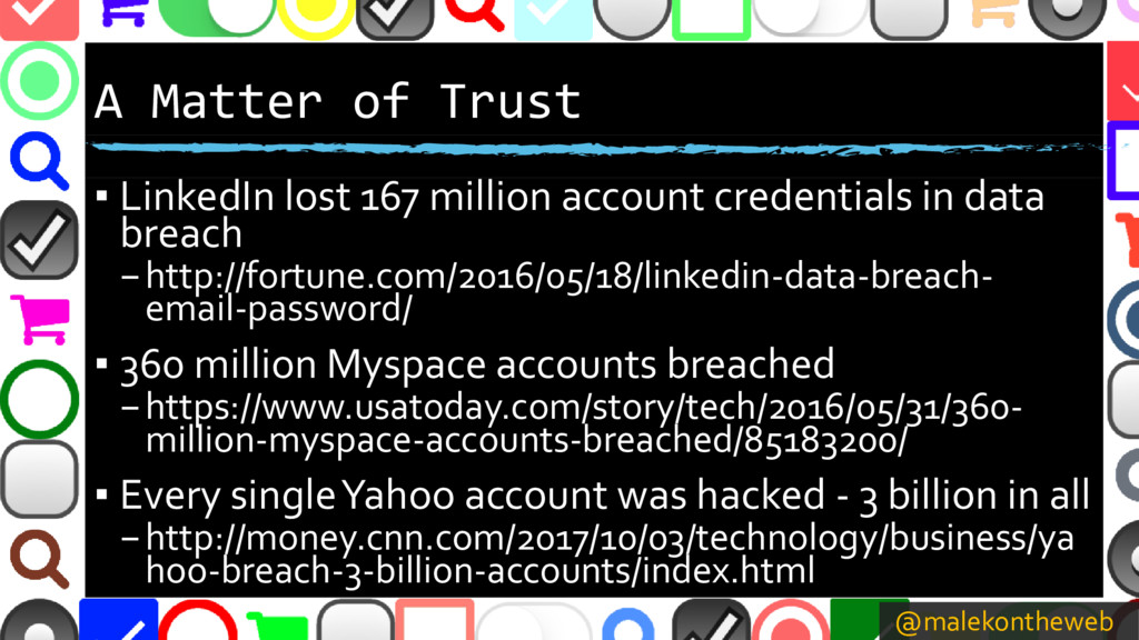 @malekontheweb A Matter of Trust ▪ LinkedIn los...