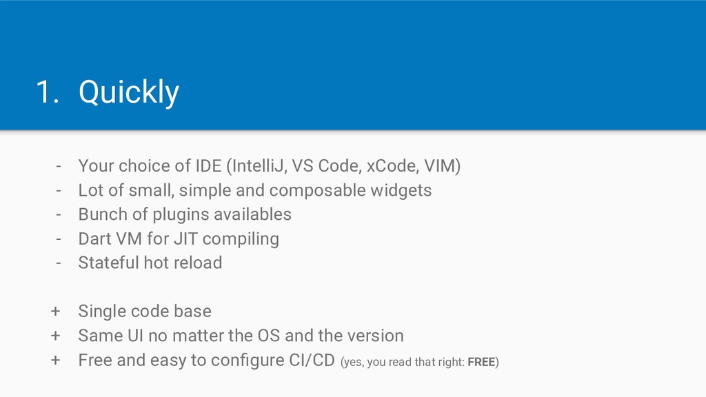 1. Quickly - Your choice of IDE (IntelliJ, VS C...