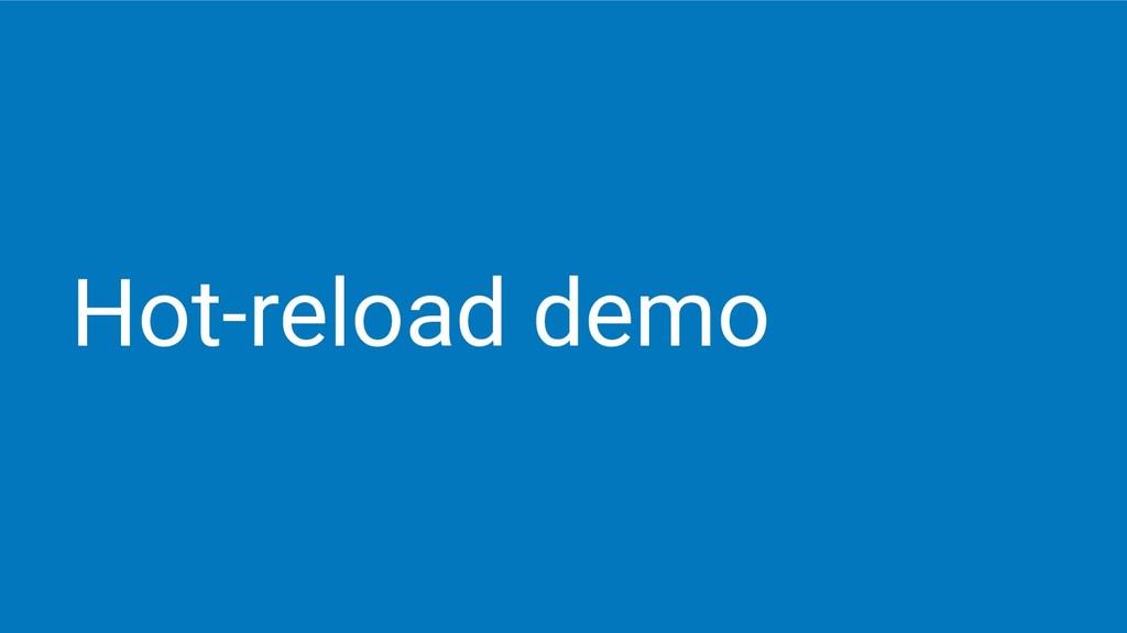 Hot-reload demo