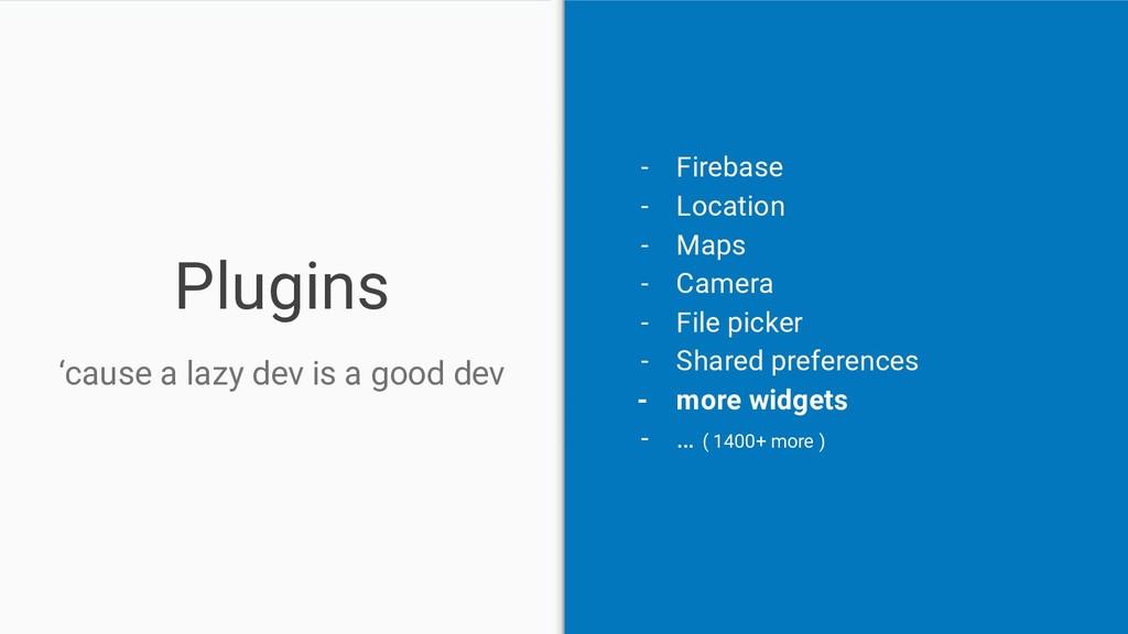 Plugins 'cause a lazy dev is a good dev - Fireb...