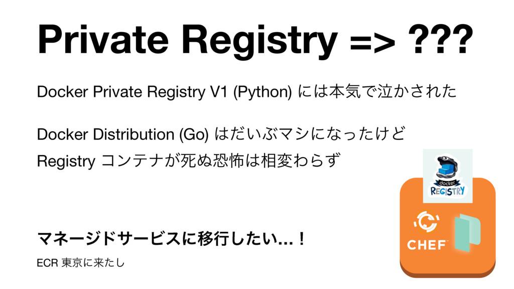 Private Registry => ??? Docker Private Registry...