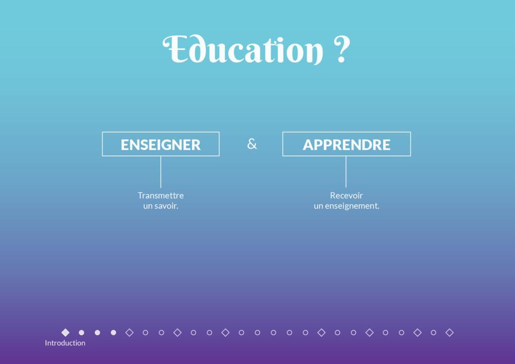 Education ? ENSEIGNER APPRENDRE Transmettre un ...